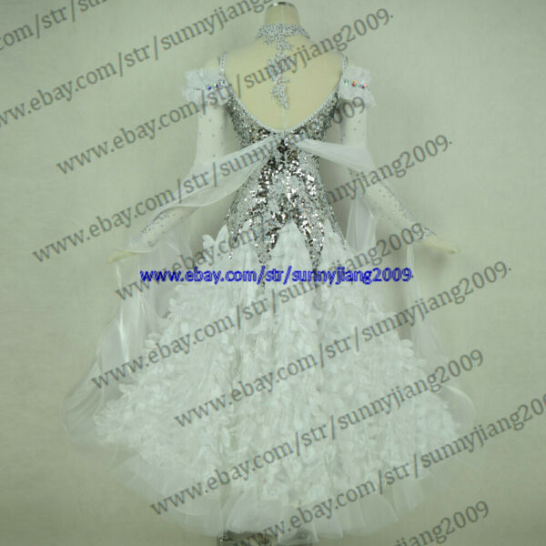 Handmade Dance Dress Standard Ballroom Competition Dress Modern Waltz Tango