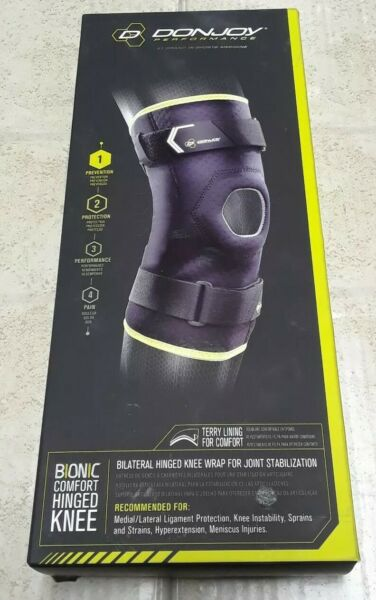 Donjoy bionic bilateral hinged knee wrap Size SM for joint stabilization New