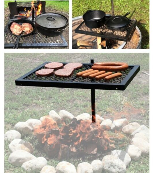 Perfect Campfire Grill Grate BBQ Portable Camping Cooking Equipment Outdoor Set