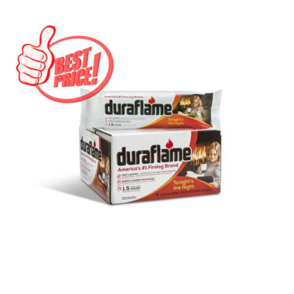 Duraflame 6-Pack 2.5-lb Fire Logs    No Mess    Full Flames in 5 Minutes