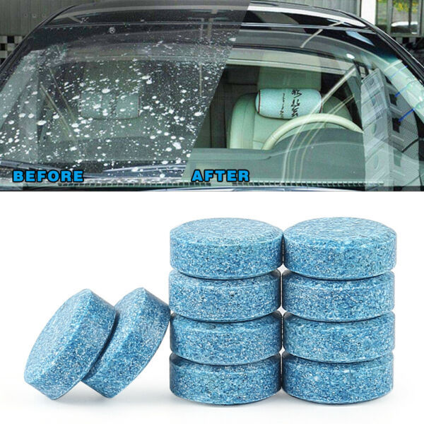 10pcs Car Windshield Glass Washer Strong Cleaning Concentrate Effervescent Table