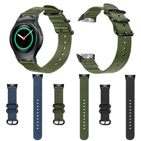 For Samsung Gear S2 SM-R720 SM-R730 20mm Soft Woven Nylon Band Replacement Strap