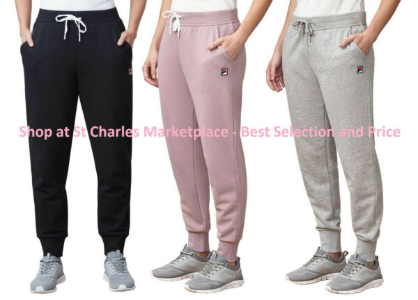 NEW Fila Ladies' Heritage French Terry Jogger Sweatpants Pick Size