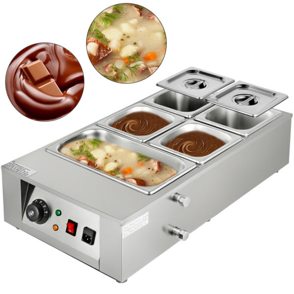 12kg Commercial Electric Chocolate Tempering Machine Melter Maker 5 Melting Pot