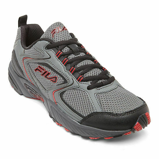 Fila Allenium Men's Trail Running Shoes Sneakers Grey Black Red Brand new