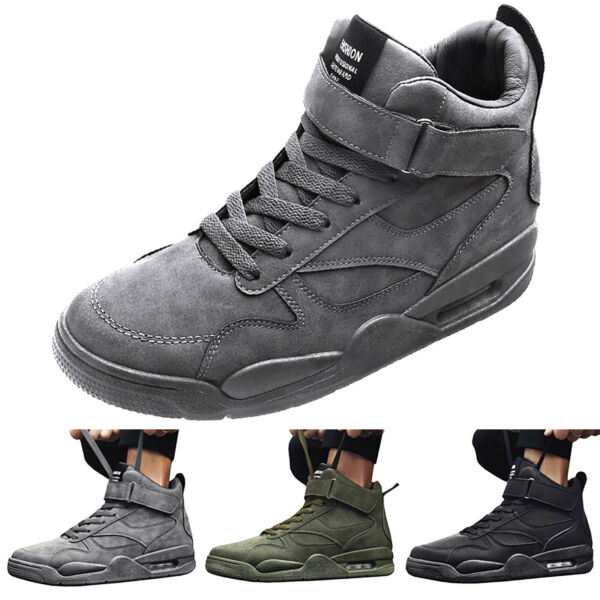 Men Casual High Top Shoe Athletic Sneakers Outdoor Sport Running Hiking Trainers