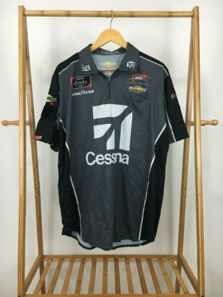 Dale Earnhardt Jr Motorsports CESSNA JET Pit Crew Shirt CHEVY Team Issued L USA