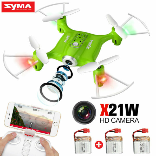 Syma X21W WIFI Camera FPV Pocket Quadcopter Altitude Hold RC Drone APP Control