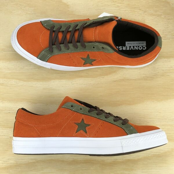 Converse One Star Pro Ox Orange Green White Casual Skating Shoes 161617C Size 11