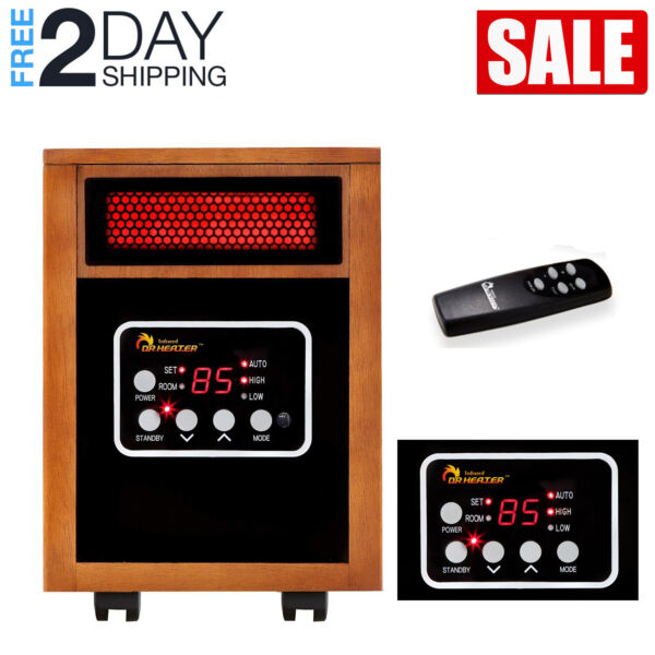 Dr. Infrared Heater 1500W Portable Space Heater Infrared Quartz PTC Dual Heating