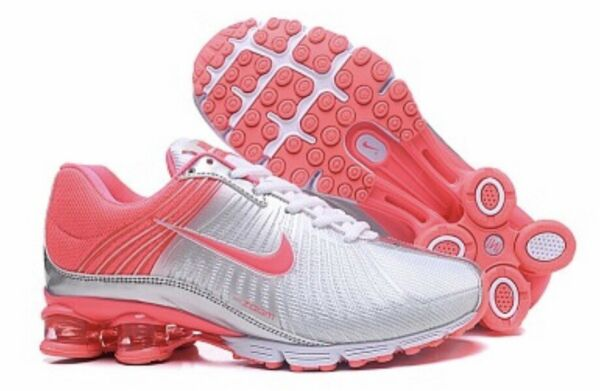 HOT NEW WOMENS Nike Shox Fabrique Running Shoes Pink/White