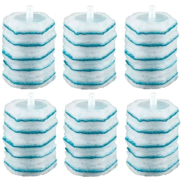 30 Clorox Toilet Bowl Cleaner Wand Heads Cleaning Refills Rainforst Total 3 Pack