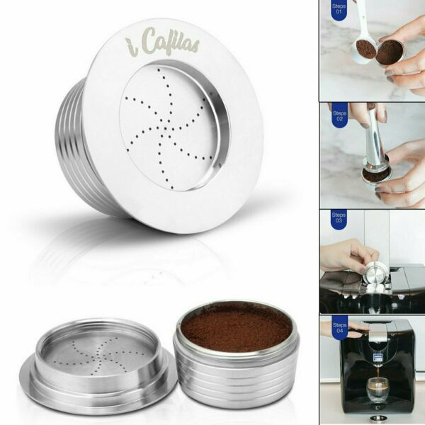 Stainless Coffee Pods Reusable Capsules Cup For LAVAZZA Blue LB951 SAECO CB 100