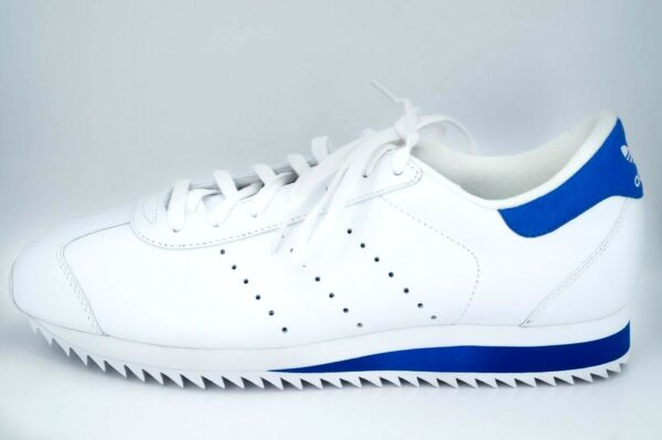 Rare Adidas Deadstock Retro Country Ripple White Blue Country Shoe ~11.5 US ~New