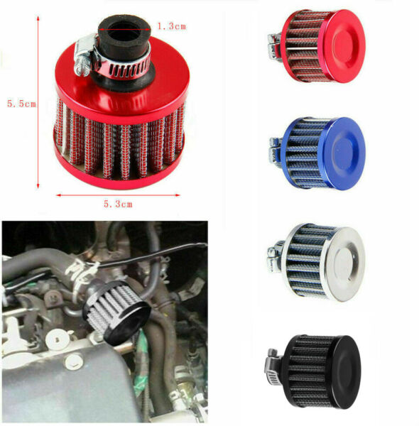 12mm Cold Air Intake Filter Turbo Vent Crankcase Car Breather Valve Cover USA