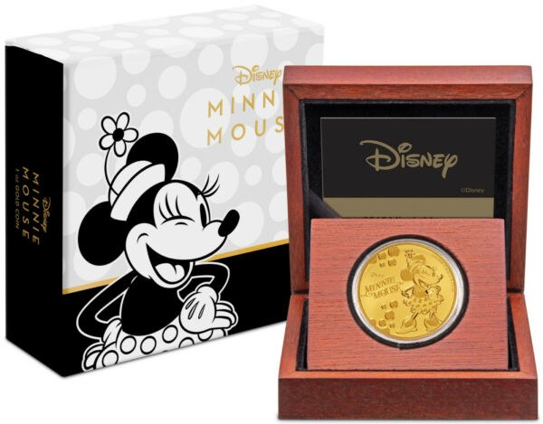 Niue- 2019 - 1 oz  Gold Proof Coin-  Disney: Minnie Mouse !!!