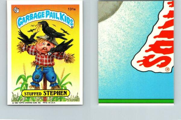 1986 SERIES 4 TOPPS GPK GARBAGE PAIL KIDS 131a STUFFED STEPHEN