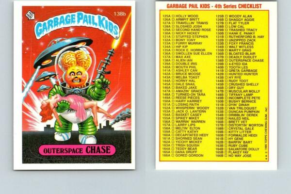 1986 SERIES 4 TOPPS GPK GARBAGE PAIL KIDS 138b OUTERSPACE CHASE
