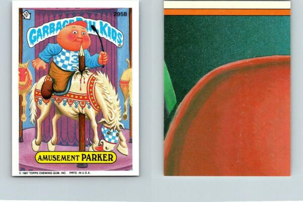 1987 SERIES 8 TOPPS GPK GARBAGE PAIL KIDS 295b AMUSEMENT PARKER