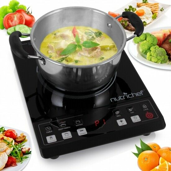 Nutrichef PKST14 Ceramic Cooktop Electric Countertop Glass Burner Cooker