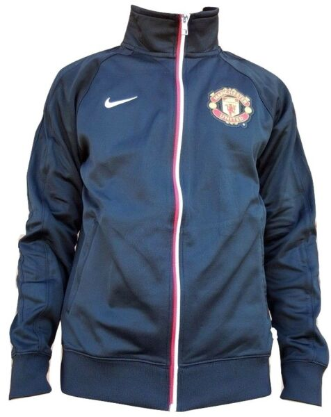 Manchester United Black Warm Up Jacket by Nike Authentic New WTags 478167