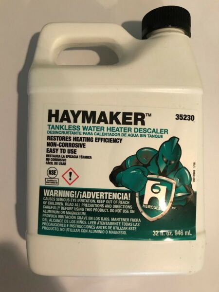 Haymaker Tankless Water Heater Flush Heat Exchanger Coil Cleaner 1 Quart