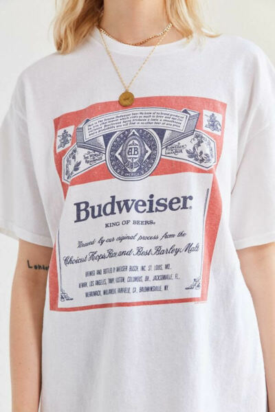Budweiser Beer Retro T Shirt