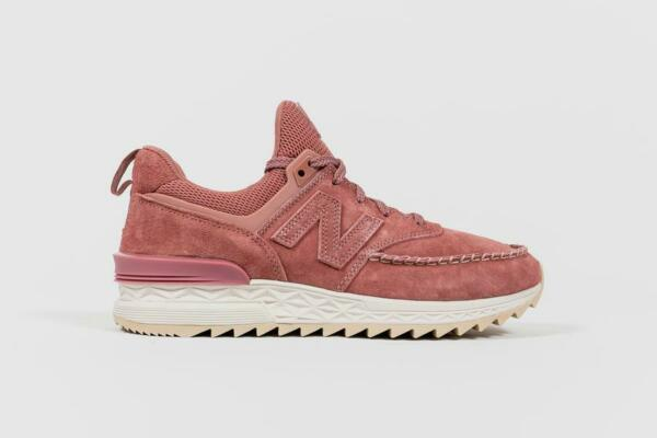New Balance Men's 574 Lifestyle Shoes Dark Oxide Pink/Sea Salt White MS574NAP