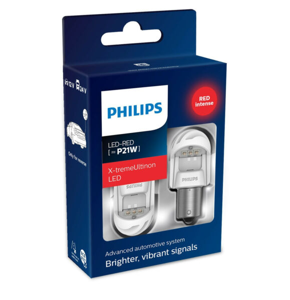 Philips P21W X-tremeUltinon gen2 LED 1156 RED Stop Brake Rear Turn 11498XURX2