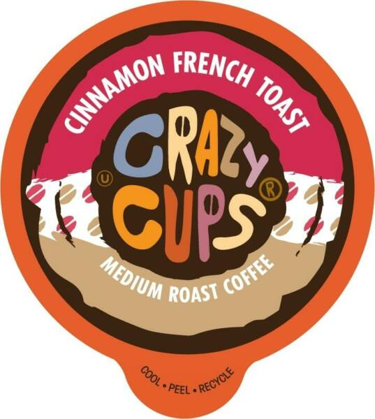 Crazy Cups Cinnamon French Toast Flavored Coffee for Keurig Brewers 22 or 80 ct.