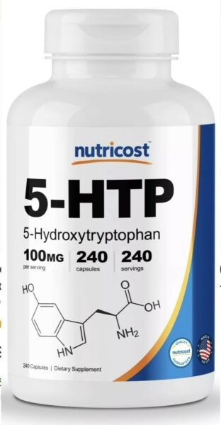 Nutricost 5-HTP 100mg 240 Capsules (5-Hydroxytryptophan) - EXP 2021