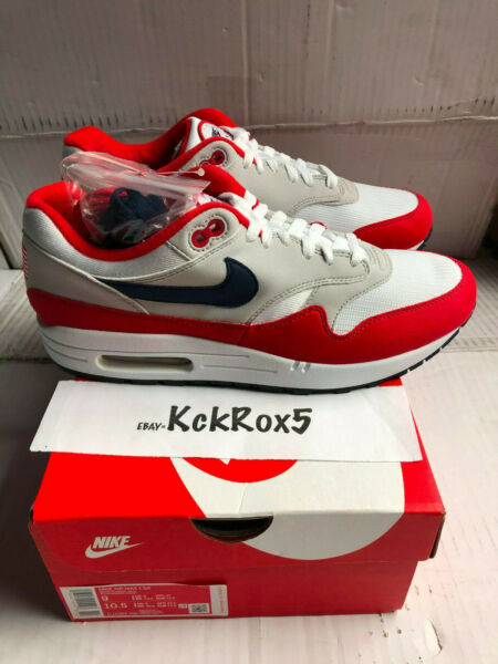 NIKE AIR MAX 1 USA QUICK STRIKE BETSY ROSS FLAG 4TH OF JULY CJ4283-100 SIZE 9.5