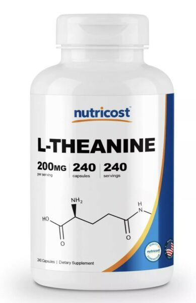 Nutricost L-Theanine 200mg 240 Capsules - Double Strength