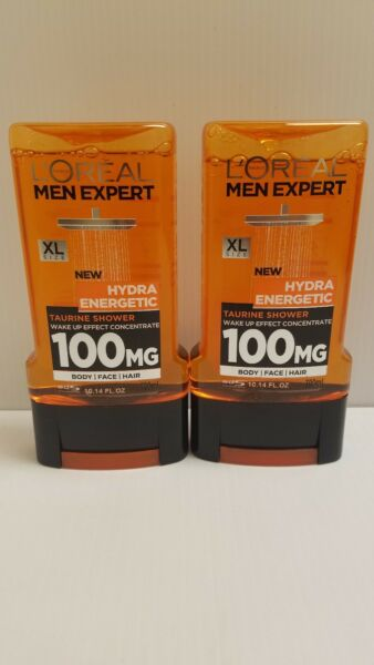 L'Oreal Men Expert Hydra Energetic Shower Gel Lot of 2 10.14 oz 300ml XL Size