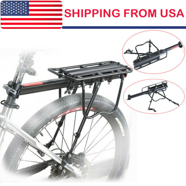 Bicycle Mountain Bike Rear Rack Seat Post Mount Pannier Luggage Carrier US 2019 $20.39