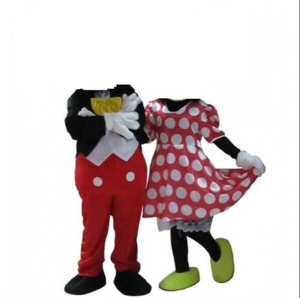 Mickey and Minnie Mouse Mascot Costume Adult Halloween BIRTHDAY Disney Girl
