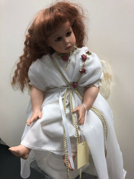 """15"""" Artist Doll Porcelain Limited Reproduction """"Mantta"""" Rita Hearth Angel #S"""