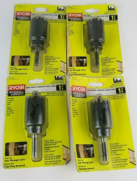 RYOBI DRILL BIT DEEP CUT HOLE SAW ONE PEICE CARBON SPEED LOAD A10HS02 1 1 4quot; 4 $24.99
