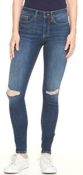 NWT Womens GAP Denim Legging Jeans Mid Rise SEXY RIPPED KNEE Jeggings Sculpted