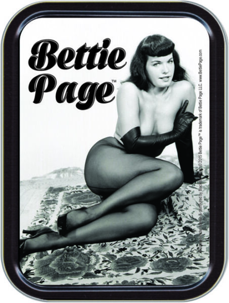 Bettie Page Sexy Stash Tin Storage Container 4.37