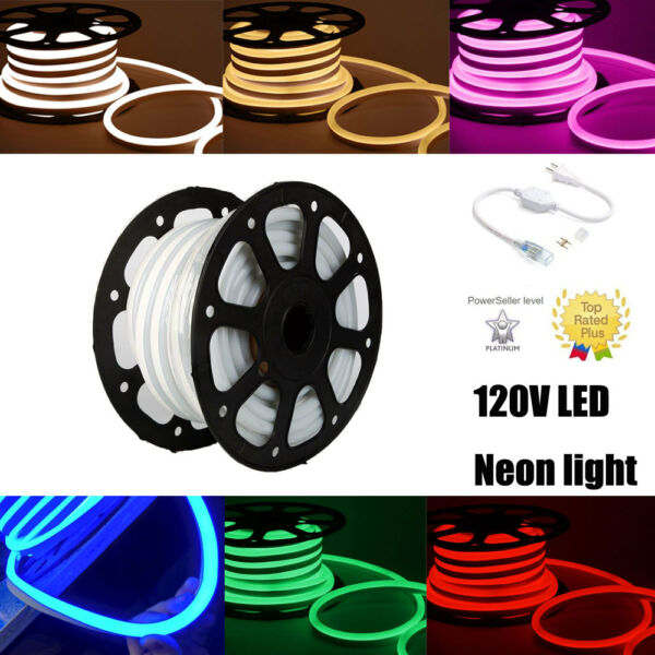 Bigger size 110V LED Neon Rope Lights Commercial Flex Flexible Sign dimmable