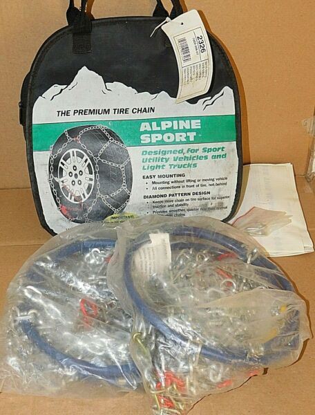 Alpine Sport Tire Snow Chains stock #2326 Never Used