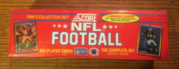 1990 Score Football Complete Sealed Factory Set - 665 Cards