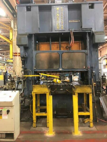 "300 Ton Minster SSDC Press 10"" Stroke  6"" Power Ram Adjustment  22"" Shut Height"