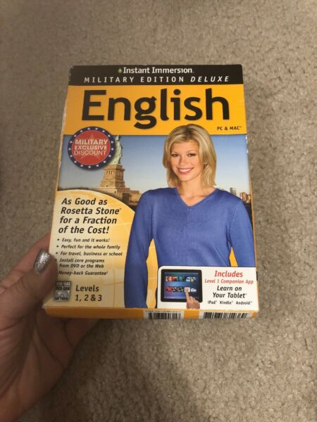 Learn How To Speak English With Instant Immersion Levels 1 3 Retail Box $7.99
