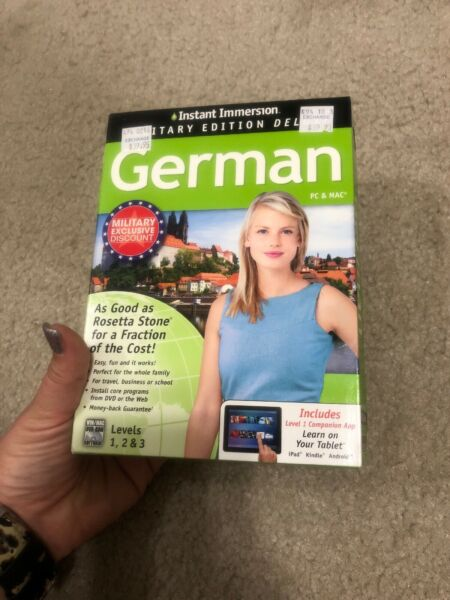NEW••• Instant Immersion German Levels 1 2 amp; 3 PC Mac CD ROM $7.99
