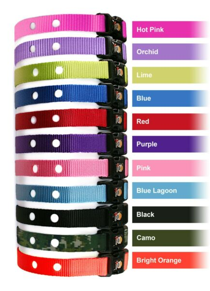 Electric Dog Fence Replacement Collar Straps 11 Colors and Lifetime Warranty $10.99