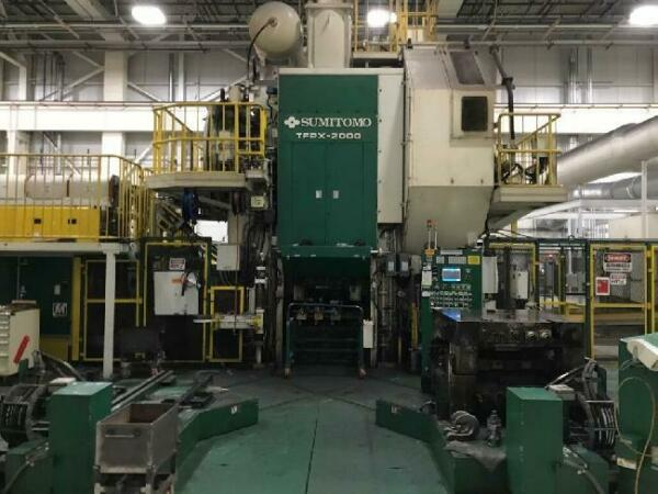 2000 Ton Sumitomo Hot Forging Press line Year 2006  4 stage transfer system   Sl