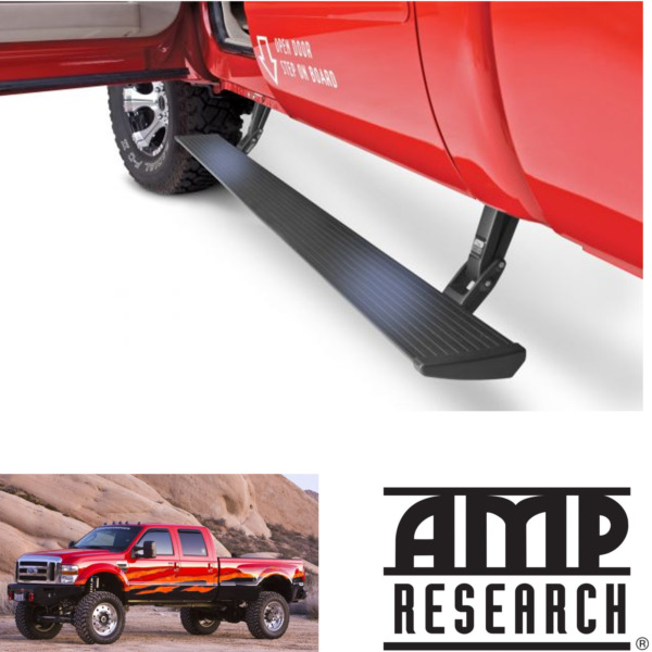 AMP PowerStep Automatic Step Boards Lighted Plug&Play 2008-2016 Ford F250 F350