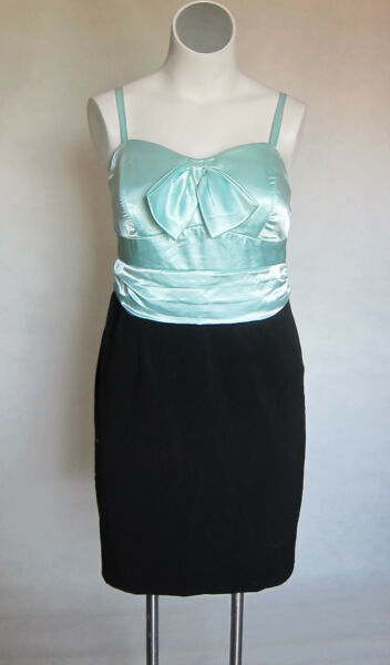 NEW SeXy Torrid Mint Green Black Party Prom Cocktail Dress Size 12 XL 0x 0